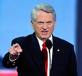 New York, NY - September 1, 2004 --  United States Senator Zell Miller (Democrat of Georgia) delivers the Keynote Address at the 2004 Republican Convention in Madison Square Garden in New York on September 1, 2004..Credit: Ron Sachs / CNP.(RESTRICTION: No New York Metro or other Newspapers within a 75 mile radius of New York City)