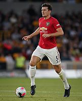 Harry Maguire of Man Utd during the Premier League match between Wolverhampton Wanderers and Manchester United at Molineux, Wolverhampton, England on 19 August 2019. Photo by Andy Rowland.