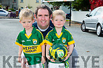 Liam Doherty, Andrew Doherty and Darragh Doherty from Milltown at Kerry GAA family day at Fitzgerald Stadium  on Sunday