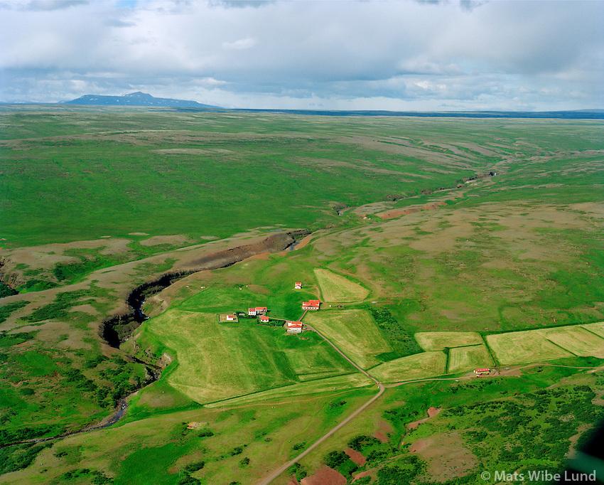 Gilsbakki séð til norðurs, Borgarbyggð áður Hvítársíðuhreppur / Gilsbakki viewing north, Borgarbyggd former Hvitarsiduhreppur.