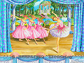Ingrid, CHILDREN, KINDER, NIÑOS, paintings+++++,USISAS10S,#K#,ballet,stage ,vintage