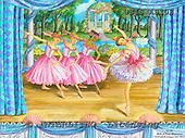 Ingrid, CHILDREN, KINDER, NIÑOS, paintings+++++,USISAS10S,#K#,ballet,stage ,vintage