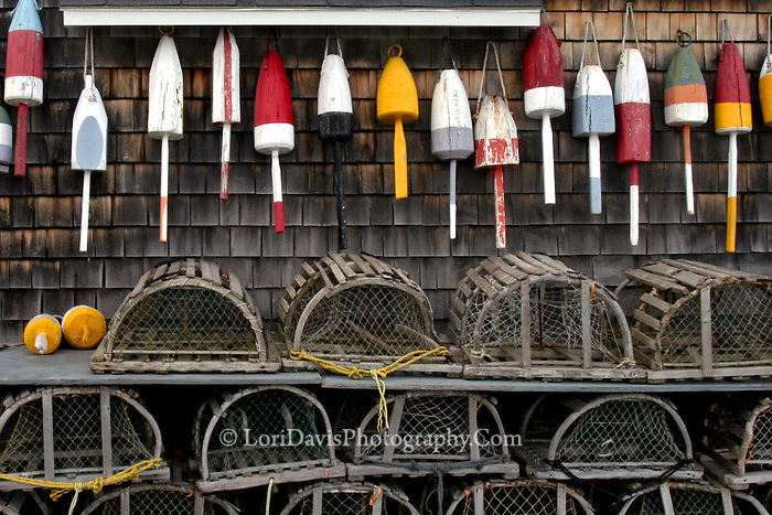 Buoys & Old Wood Lobster Traps, Maine | Lori A. Davis ...