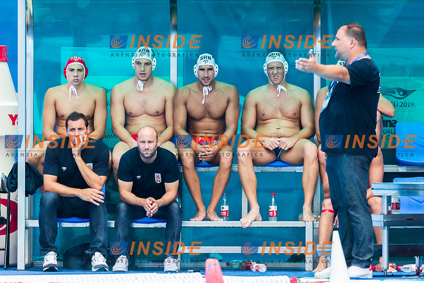 27-07-2019: WK waterpolo: Serbia v Australia: Gwangju<br /> Head Coach SAVIC Dejan (SRB)<br /> Gwangju South Korea 27/07/2019<br /> Waterpolo M46 SRB - AUS<br /> 18th FINA World Aquatics Championships<br /> Nambu University Grounds <br /> Orange Pictures / Deepbluemedia / Insidefoto