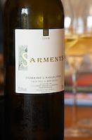 Sarment Vin de Pays du Mont Baudile 2004. Domaine l'Aigueliere. Montpeyroux. Languedoc. France. Europe. Bottle.