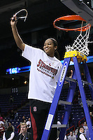 31 March 2008: Melanie Murphy during Stanford's 98-87 win over the University of Maryland in the elite eight game of the NCAA Division 1 Women's Basketball Championship in Spokane, WA.