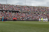 East Hartford, CT - Saturday July 01, 2017: USMNT starting eleven during an international friendly game between the men's national teams of the United States (USA) and Ghana (GHA) at Pratt & Whitney Stadium.