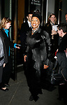 Jessye Norman arriving for the Roundabout Theatre Company's Opening Night Production  of  A MAN FOR ALL SEASONS at the American Airlines Theatre in New York City.<br />October 7, 2008