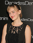 BEVERLY HILLS, CA. - November 02: Jess Weixler arrives at the Decades Of Denim Launch Party at a private residence on November 2, 2010 in Beverly Hills, California.