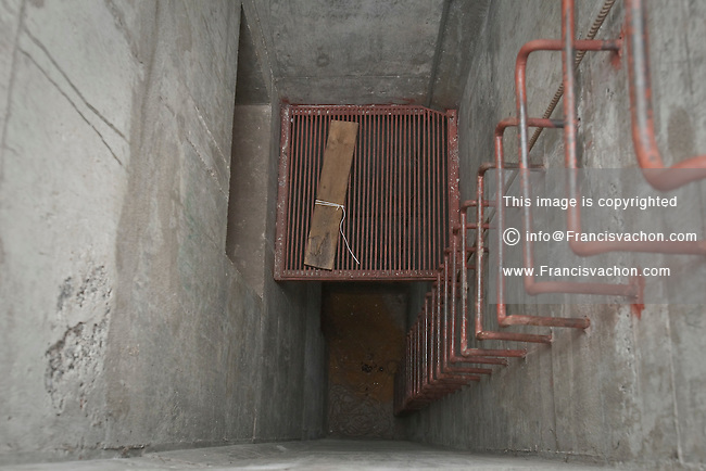 The emergency exit of the nuclear fallout bunker at CFB Valcartier, just north of Quebec City, June 2, 2010.  Now used for the base day to day operation, the nuclear fallout bunker was part of the Emergency Government Headquarters scattered across the country.