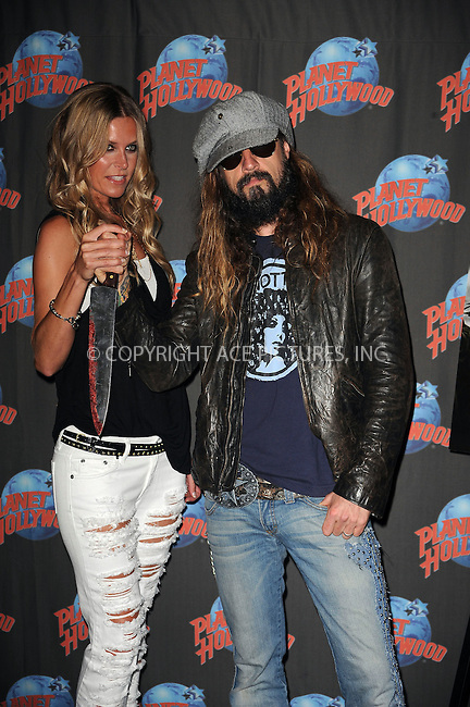 WWW.ACEPIXS.COM . . . . . ....August 18 2009, New York City....Director Rob Zombie and Sheri Moon Zombie appeared at Planet Hollywood on August 18, 2009 in New York City. ......Please byline: KRISTIN CALLAHAN - ACEPIXS.COM.. . . . . . ..Ace Pictures, Inc:  ..tel: (212) 243 8787 or (646) 769 0430..e-mail: info@acepixs.com..web: http://www.acepixs.com