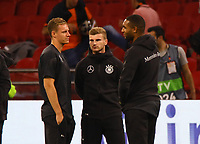 Torwart Bernd Leno (Deutschland Germany), Timo Werner (Deutschland Germany), Jonathan Tah (Deutschland, Germany) - 13.10.2018: Niederlande vs. Deutschland, 3. Spieltag UEFA Nations League, Johann Cruijff Arena Amsterdam, DISCLAIMER: DFB regulations prohibit any use of photographs as image sequences and/or quasi-video.