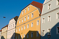 Colorful Babarian architecture, Regensburg, Germany