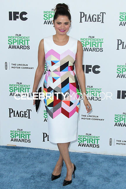 SANTA MONICA, CA, USA - MARCH 01: Melonie Diaz at the 2014 Film Independent Spirit Awards held at Santa Monica Beach on March 1, 2014 in Santa Monica, California, United States. (Photo by Xavier Collin/Celebrity Monitor)