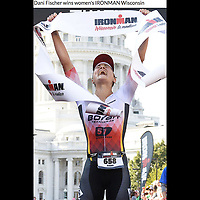 University of Wisconsin graduate, Dani Fischer, wins the women's 2017 IRONMAN Wisconsin with a time of 9 hours, 57 minutes, and 41 seconds on Sunday, September 10 in Madison | Wisconsin State Journal article in Sports 9/11/17, with online gallery at http://host.madison.com/wsj/sports/photos-athletes-flock-to-madison-for-ironman-wisconsin-triathlon/collection_e50410c5-3df5-5664-835a-95425345ccd7.html