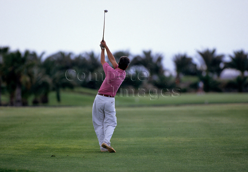 Golfer on a golf course