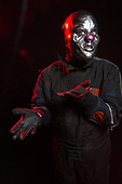 """SLIPKNOT - percussionist Shawn Crahan aka """"Clown"""" - Photosession in Las Vegas NV USA - 15 May 2019.  Photo credit: Paul Harries/IconicPix"""