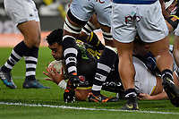 Wellington&rsquo;s Teariki Ben-Nicholas in action during the Mitre 10 Cup - Wellington v Auckland at Westpac Stadium, Wellington, New Zealand on Thursday 4 October 2018. <br /> Photo by Masanori Udagawa. <br /> www.photowellington.photoshelter.com