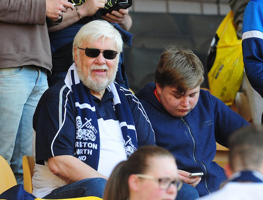 Preston North End fans enjoy the pre match build-up<br /> <br /> Photographer Kevin Barnes/CameraSport<br /> <br /> The EFL Sky Bet Championship - Wolverhampton Wanderers v Preston North End - Sunday 7th May 2017 - Molineux Stadium <br /> <br /> World Copyright &copy; 2017 CameraSport. All rights reserved. 43 Linden Ave. Countesthorpe. Leicester. England. LE8 5PG - Tel: +44 (0) 116 277 4147 - admin@camerasport.com - www.camerasport.com