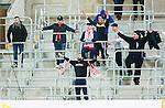 Stockholm 2014-03-09 Fotboll Svenska Cupen Djurg&aring;rdens IF - Assyriska FF :  <br /> Assyriska supportrar p&aring; Tele2 Arena l&auml;ktare bortasektion<br /> (Foto: Kenta J&ouml;nsson) Nyckelord:  Djurg&aring;rden supporter fans publik supporters