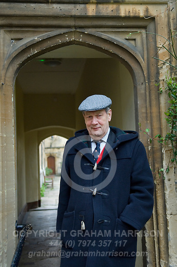 Professor Norman Stone at Corpus Christi College during the Sunday Times Oxford Literary Festival, UK, 16 - 24 March 2013. <br />