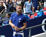 Chelsea's Gary Cahill watches the game during the premier league match at the Wembley Stadium, London. Picture date 20th August 2017. Picture credit should read: David Klein/Sportimage