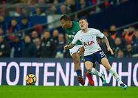 West Bromwich Albion Salomon Rondon  and Tottenham's Kieran Trippier during the Premier League match between Tottenham Hotspur and West Bromwich Albion at Wembley Stadium, London, England on 25 November 2017. Photo by Andrew Aleksiejczuk / PRiME Media Images.