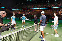 Rotterdam, The Netherlands, 16 Februari 2019, ABNAMRO World Tennis Tournament, Ahoy, semis, doubles, Jean-Julien Rojer (NED) / Horia Tecau (ROU) vs Rajeev Ram (USA) / Joe Salisbury (GBR),<br /> Photo: www.tennisimages.com/Henk Koster