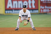Third baseman Jake Smolinski #14 of the Jupiter Hammerheads on defense against the Charlotte Stone Crabs at Roger Dean Stadium June 16, 2010, in Jupiter, Florida.  Photo by Brian Westerholt /  Seam Images