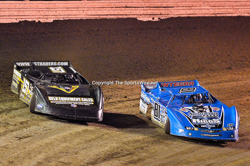 Feb 20, 2014; 7:50:55 PM;  Barberville, FL, USA;  World of Outlaws Late Model Series for 43rd Annual DIRTcar Nationals presented by Summit Racing Equipment at Volusia Speedway Park.  Mandatory Credit: (thesportswire.net)