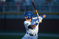 Nicky Lopez (4) of the Burlington Royals at bat against the Princeton Rays at Burlington Athletic Stadium on August 12, 2016 in Burlington, North Carolina.  The Royals defeated the Rays 9-5.  (Brian Westerholt/Four Seam Images)