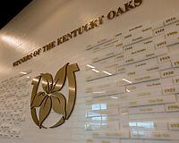 LOUISVILLE,KNY - MAY 03: Kentucky Oaks winners wall, Morning works for Kentucky Derby & Kentucky Oaks at Churchill Downs, Louisville, Kentucky. (Photo by Sue Kawczynski/Eclipse Sportswire/Getty Images)