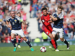 Scotland's Stuart Armstrong tussles with England's Dele Alli during the FIFA World Cup Qualifying match at Hampden Park Stadium, Glasgow Picture date 10th June 2017. Picture credit should read: David Klein/Sportimage