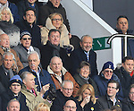 Tottenham fan Lord Sugar sits with Arsenal fan Piers Morgan<br /> <br /> - English Premier League - Tottenham Hotspur vs Arsenal  - White Hart Lane - London - England - 5th March 2016 - Pic David Klein/Sportimage