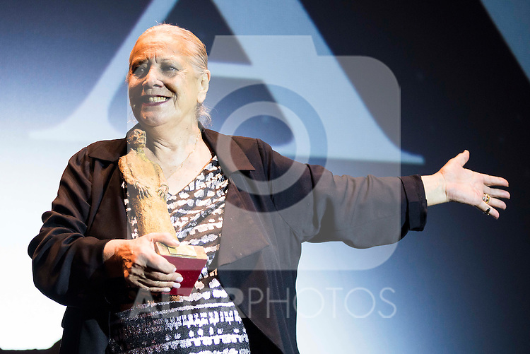 Spanish actress Terele Pavez receive the Nosferatu Award at Festival de Cine Fantastico de Sitges in Barcelona. October 12, Spain. 2016. (ALTERPHOTOS/BorjaB.Hojas)