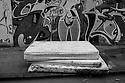 London, UK. 04.04.2015. Abandoned mattresses, East London. Photograph © Jane Hobson.