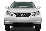 Straight front view of a 2010 Lexus RX 350