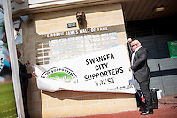 Swansea city Wall of Fame unveiling  ahead of the  Premier League match between Swansea City and Everton played at the Liberty Stadium, Swansea  on September 19th 2015
