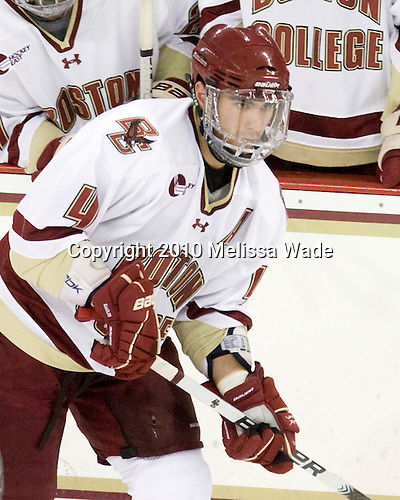 Tommy Cross (BC - 4) - The Merrimack College Warriors visited the Boston College Eagles on Friday, October 29, 2010, at Conte Forum in Chestnut Hill, MA.