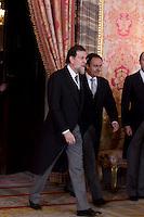 MADRI, ESPANHA, 06 JANEIRO 2013 - PARADA MILITAR ANO NOVO - O primeiro Ministro Mariano Rajoy durante Parada Militar do Ano Novo no Palacio Real de Madri capital da Espanha, neste domingo, 06/01/2013. (FOTO: MIGUEL CORDOBA / ALFAQUI / BRAZIL PHOTO PRESS).