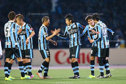 Kawasaki Frontale team group, <br /> MARCH 12, 2016 - Football /Soccer : <br /> 2016 J1 League 1st stage match <br /> between Kawasaki Frontale 3-2 Nagoya Grampus <br /> at Kawasaki Todoroki Stadium, Kanagawa, Japan. <br /> (Photo by YUTAKA/AFLO SPORT)