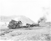 D&amp;RGW freight with two engines going up to Cumbres - close to 2nd crossing?<br /> D&amp;RGW  e. of the Narrows, NM