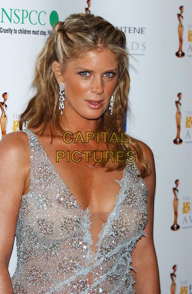 RACHEL HUNTER.Pantene Pro-V Awards, Royal Albert Hall.half-length, half length, cleavage, plunging neckline.sales@capitalpictures.com.www.capitalpictures.com.©Capital Pictures