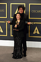 09 February 2020 - Hollywood, California -     Kwak Sin-ae, Bong Joon-ho attend the 92nd Annual Academy Awards presented by the Academy of Motion Picture Arts and Sciences held at Hollywood & Highland Center. Photo Credit: Theresa Shirriff/AdMedia