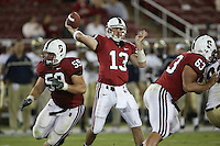 16 September 2006: T.C. Ostrander during Stanford's 37-9 loss to Navy during the grand opening of the new Stanford Stadium in Stanford, CA. Josiah Vinson and Chris Marinelli provide the protection.