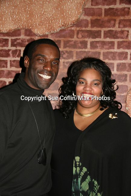 One Life To Live - Timothy Stickney (has a new hair do - all his dreadlocks are gone) poses with Debra Ann Byrd as Take Wing and Soar Productions presents the Classical Lab Reading Series The Tragedy of MacBeth directed by Timothy D. Stickney (OLTL) and also Timothy played MacBeth on December 14, 2009 at The National Black Theatre, Harlem, New York. (Photo by Sue Coflin/Max Photos)