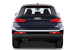Straight rear view of a 2012 Audi Q3 SUV