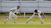 West of Scotland CC V Uddingston CC, Scottish National Cricket League, Premier Div, at Hamilton Cres, Glasgow - Uddy's David Bill and West keeper Dougie Lockhart chase the ball - Picture by Donald MacLeod