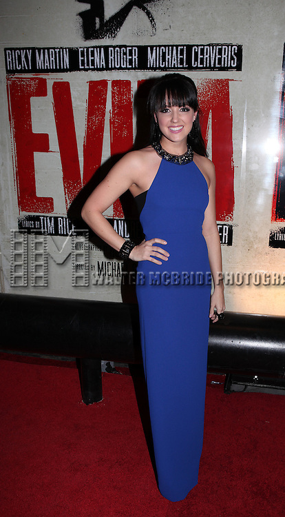Rachel Potter.attending the Broadway Opening Night Performance After Party for 'EVITA' at the Mariott Marquis Hotel in New York City on 4/5/2012