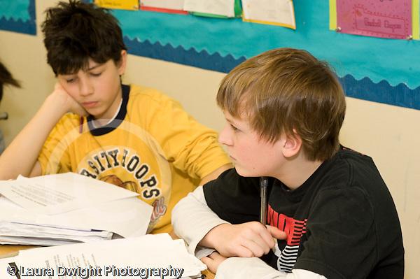 Public Middle School Grade 7 english humanities class horizontal